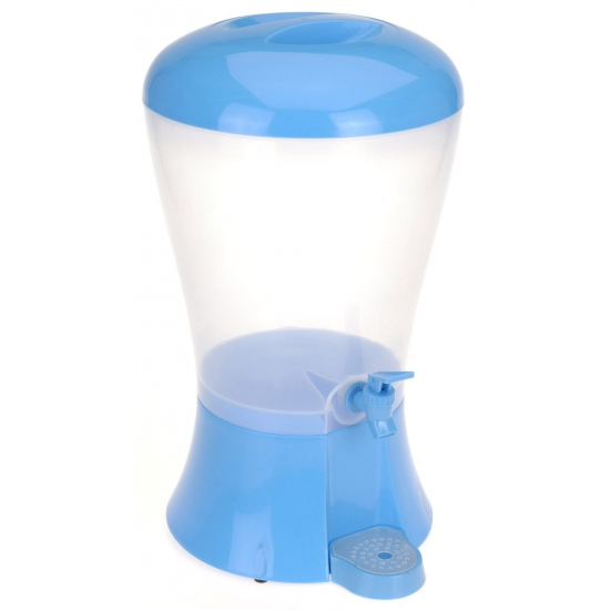 Blauwe drank dispenser