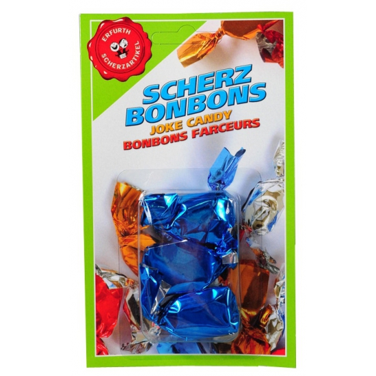 Blauwe mond nep bonbons