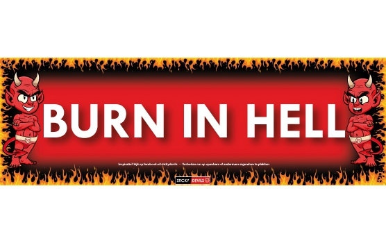 Burn in Hell Sticky Devil sticker