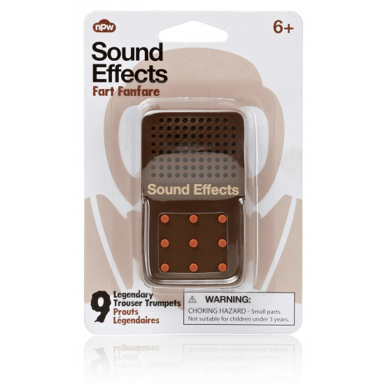 Fun button met scheet geluiden
