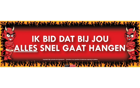 Hangen Sticky Devil sticker