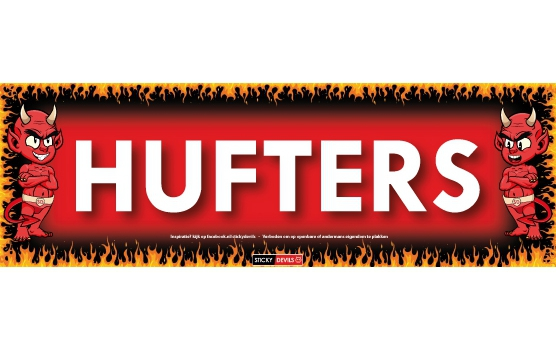 Hufters Sticky Devil sticker