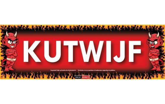 Kutwijf Sticky Devil sticker