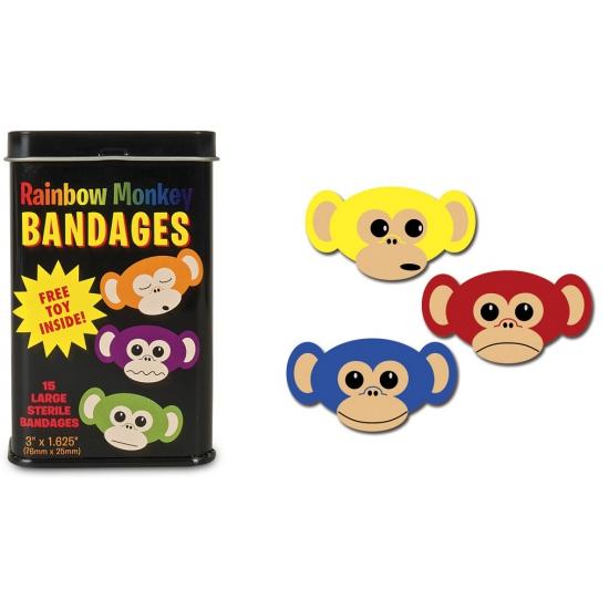 Pleister gekleurde aapjes