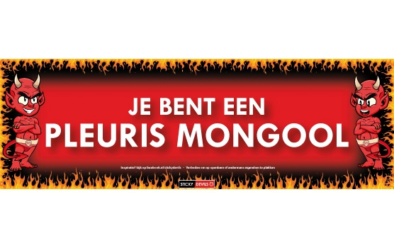 Pleuris mongool Sticky Devil sticker