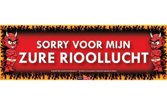 Rioollucht Sticky Devil sticker