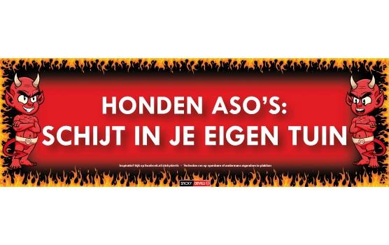 Sticky Devil stickers tekst Honden aso s